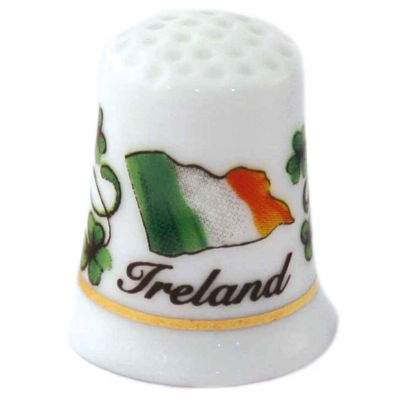 Ceramic Thimble With Irish Flag Design