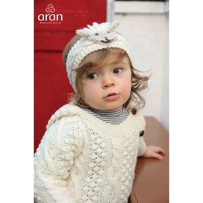 Irish Aran Baby Shepley Woollen Headband With Cute Sheep Design