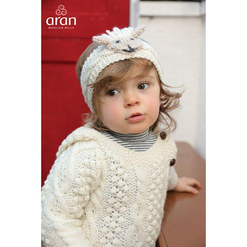 Irish Aran Baby Shepley Woollen Headband With Cute Sheep Design
