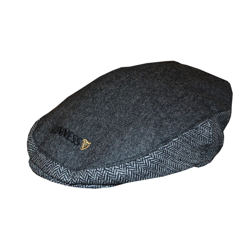 Official Guinness Grey Tweed Flat Cap