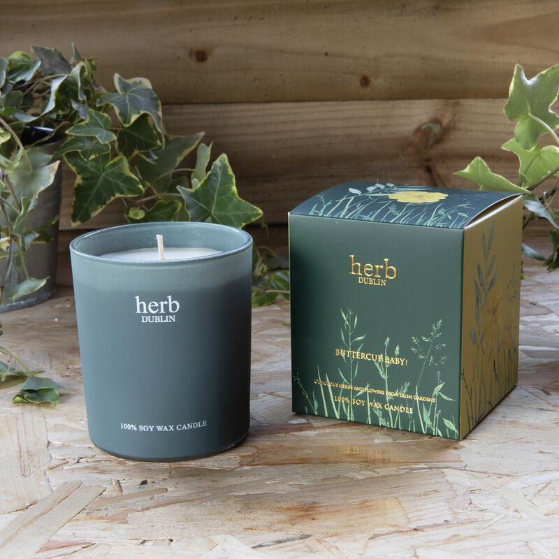 Buttercup Baby! 40 Hour Soy Wax Boxed Candle From Herb Dublin  235G