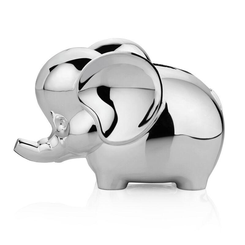 Newbridge Silver Rhodium Plated Elephant Money Bank