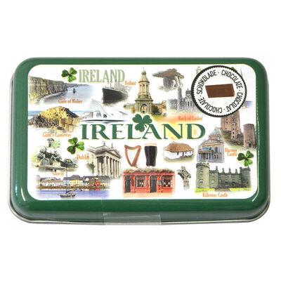Famous Landmarks Of Ireland Luxury Tin Box With Chocolates Gift Pack