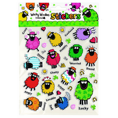Wacky Woollies Ireland Novelty Sheep Stickers Variety Multipack
