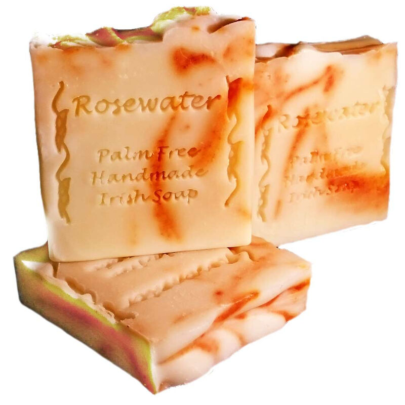 Palm Free Delicate Rosewater Soap Bar – Handcrafted in Ireland