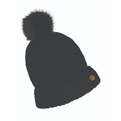 Quiet Man Collection Irish Designed Bobble Hat  Black In Colour