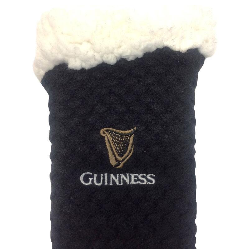 Guinness Non-Slip Slipper Socks With Logo Design Black And White Colour