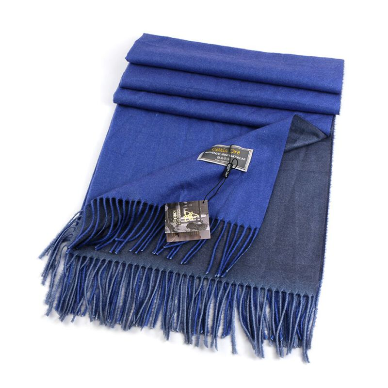 Celtic Ore Authentic Irish Two-Sided Scarf  Royal/Blue Colour