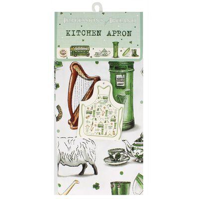 Impressions Of Ireland Kitchen Apron With Irish Icons Design