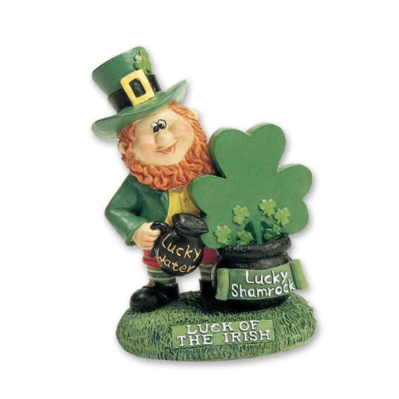 Miniature Leprechaun With A Pot Of Shamrocks