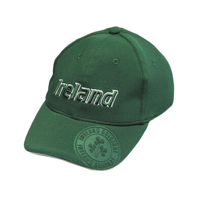 Baseball Cap For Kids With Ireland Emblem Badge  Green Colour