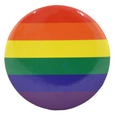 Pride Party Coloured Flag Shaped Designed Badge  3.9Cm X 3.9Cm