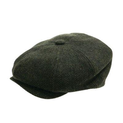 Peaky Irish Collection Premium Quality Newsboy Cap  Green Colour