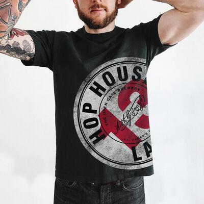 Hop House 13 Long Oversized T-Shirt, Black Colour