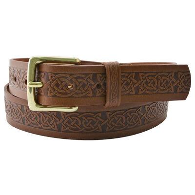Lee River 40Mm Genuine Brown Leather Belt With Plain Loop Buckle