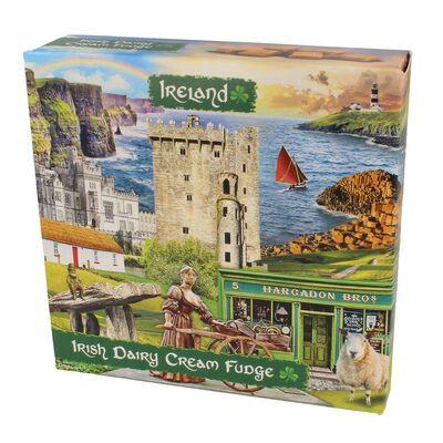 Ireland Famous Landmarks Montage Irish Dairy Cream Fudge  170G