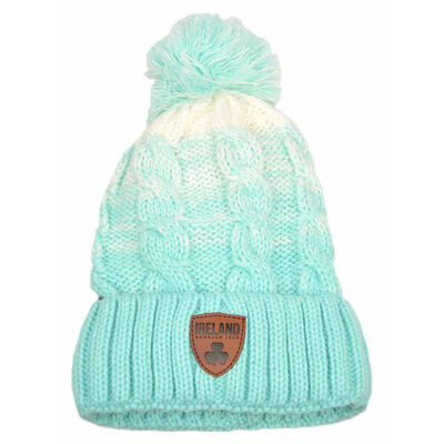 Irish Connexxion Limited Edition Leather Patch Ombre Hat  Light Green Colour