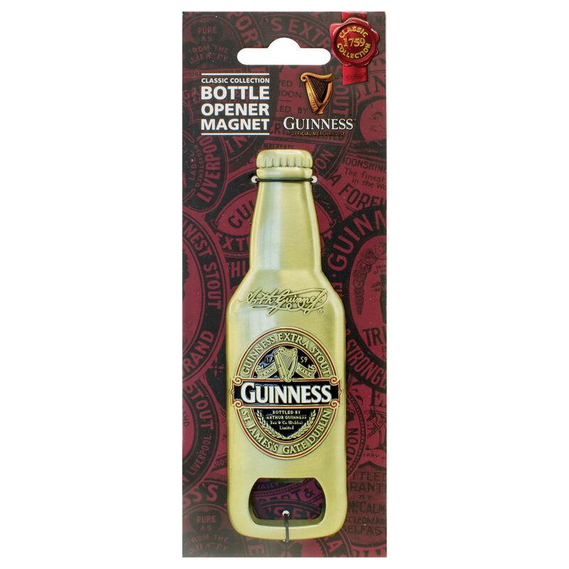 Flaschenförmiger 3D-Guinness-Magnet mit Etikettendesign der Classic-Kollektion