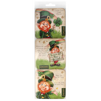 McMurfy Luck O' The Irish Leprechaun Designed 6 Pack Of Coasters