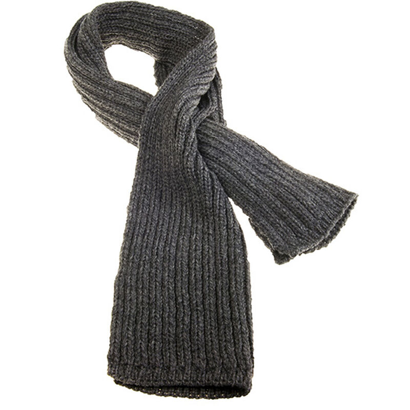 Pull Through Ribbed Scarf Charcoal