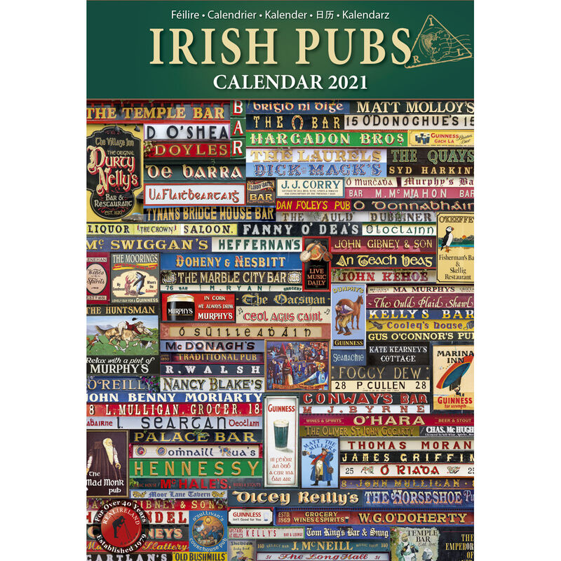 Slim Irish Pubs And Signs Calendar 2021 by Liam Blake
