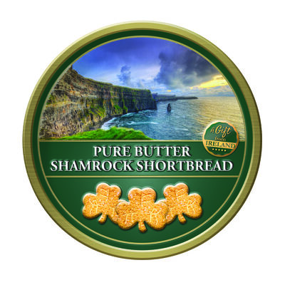 A Gift From Ireland Pure Butter Shamrock Shaped Shortbread  180G