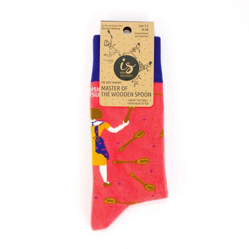 Irish Socksciety The Best Mammy Master Of The Wooden Spoon Designed Socks