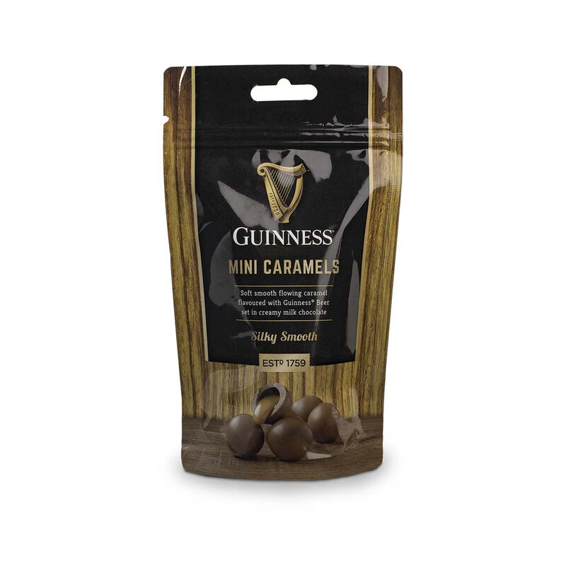 Guinness Luxury Milk Chocolate Mini Caramels in Resealable Pouch  102g
