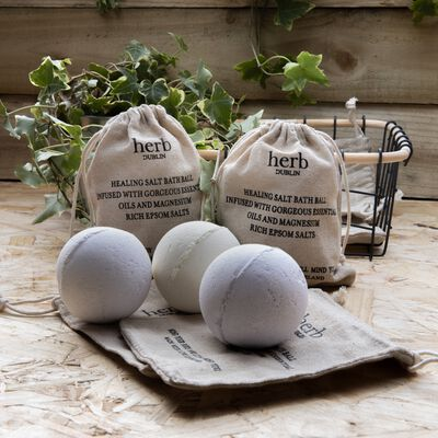 Citrus Bath Ball With Epsom Salts And Essential Oils From Herb Dublin