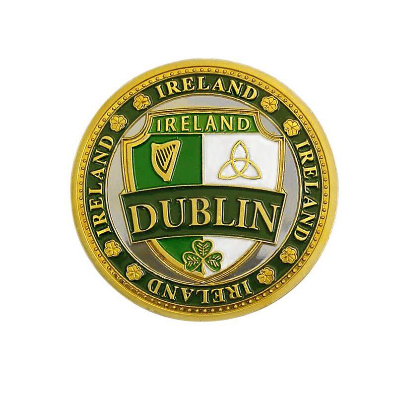 Collectors Edition Dublin Crest And Ireland Map Design Token