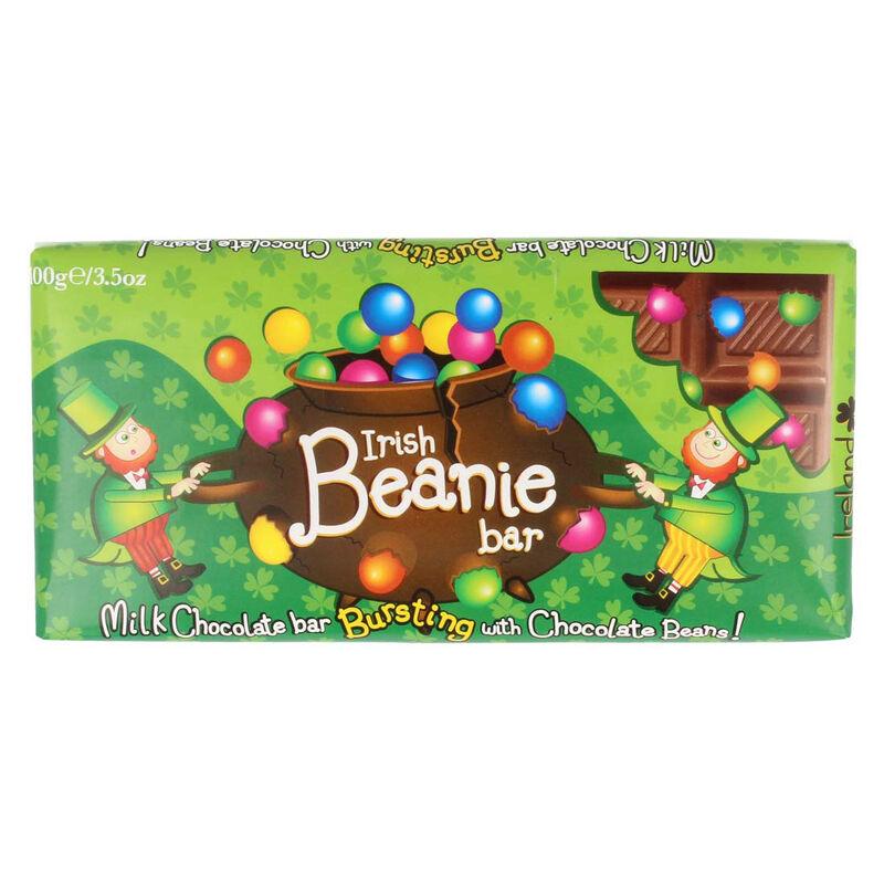 Irish Leprechaun Milk Chocolate Bar Bursting With Chocolate Beans