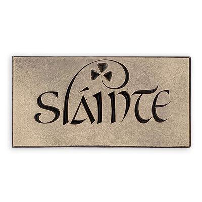Slainte Engraved Plaque (20Cm X 10Cm)
