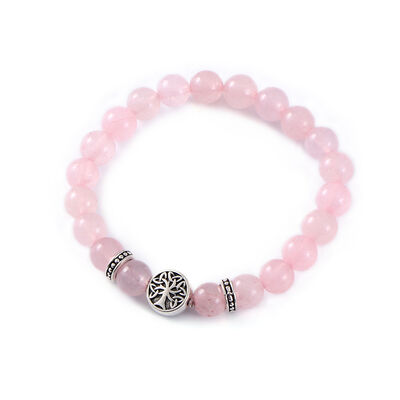 Mystic Ireland Rose Quartz Semi Precious Stone Celtic Energy Bracelet
