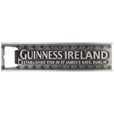 """Guinness-Girder-Stil-Metallflaschenöffner mit Magnet und Text """"Guinness Ireland"""""""