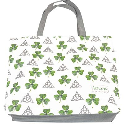 Trinity Knot Bag With Shamrock Design