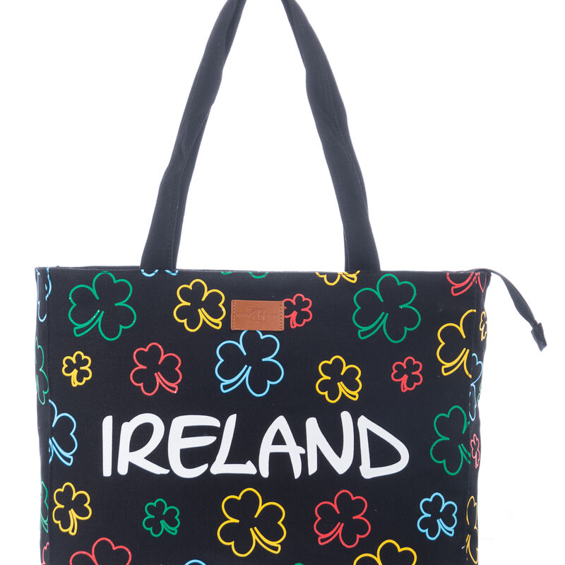 Robin Ruth Naomi Ireland Canvas Bag With Colourful Shamrocks Design