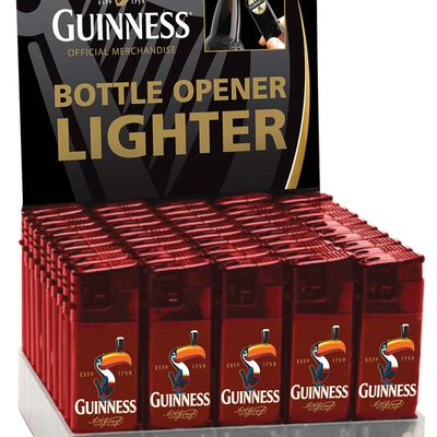 Guinness Electronic Single Lighter And Bottler Opener With Toucan Design  Red Colour