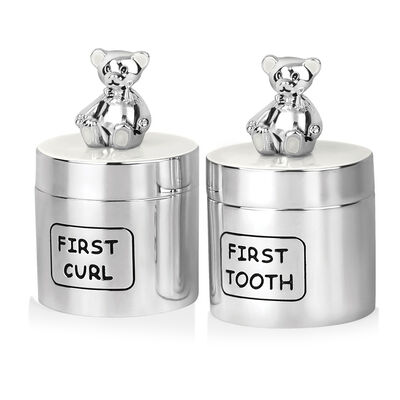 Newbridge Silverware Teddy Bear Tooth & Curl Baby Set
