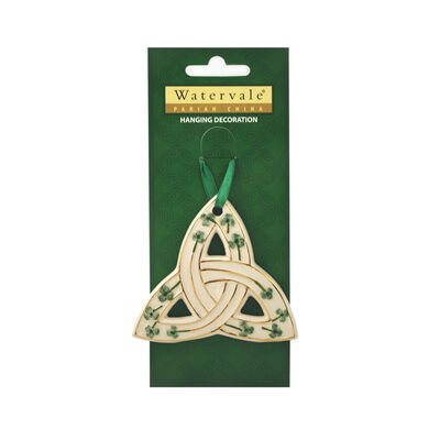 Trinity Knot with Shamrocks Watervale Hanging Decoration