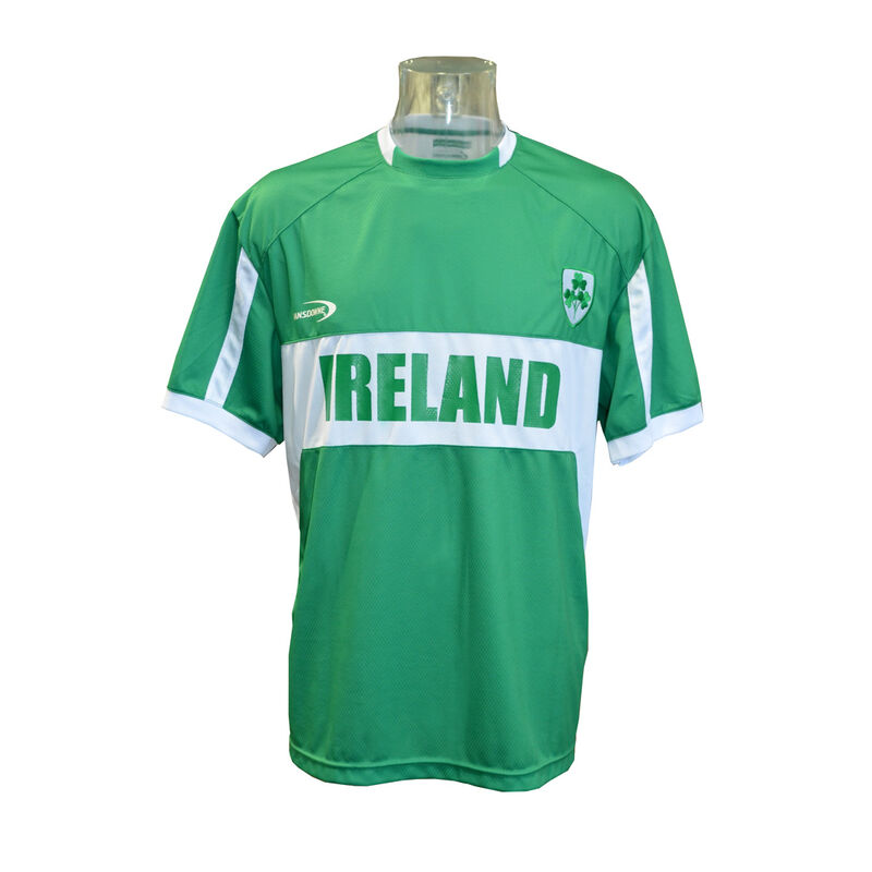 Men's Replica Style Ireland Lansdowne Rugby Jersey  Green Colour