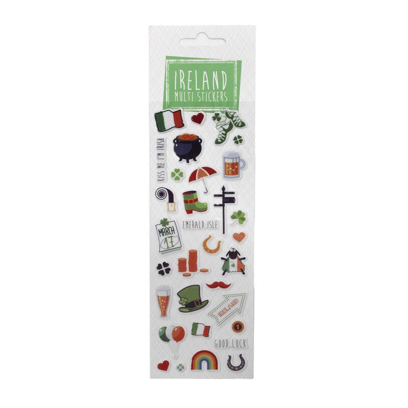 Ireland Multi Sticker Pack with Typical Irish Symbols Stickers