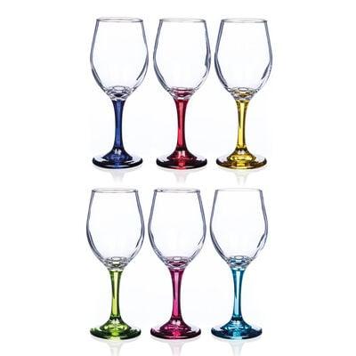 Newgrange Living Rainbow Vienna Wine Glasses, Set of 6