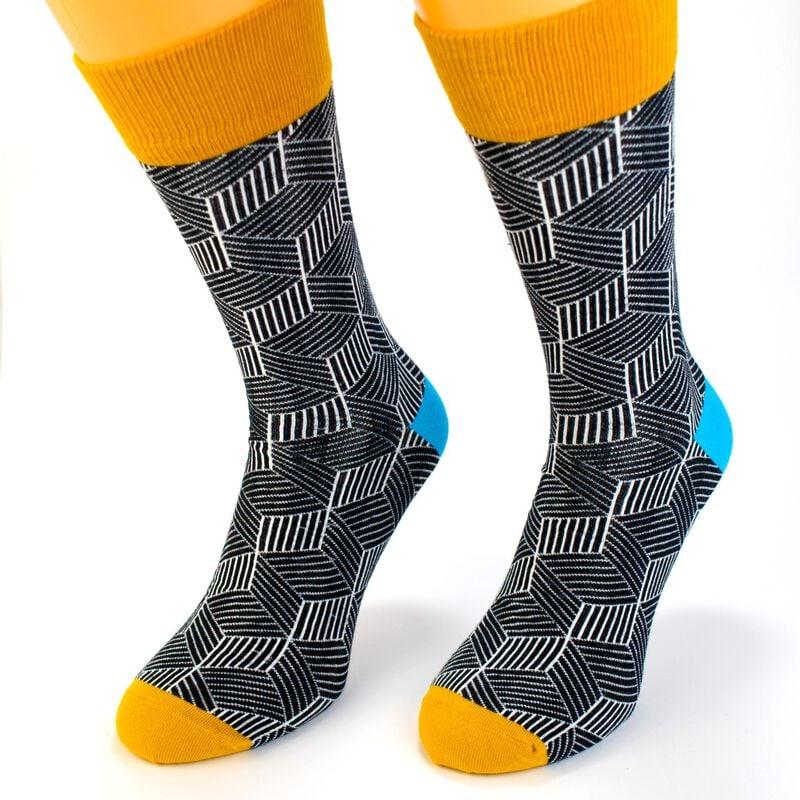 Irish Socksciety Feck It Socks - Black Colour With Yellow Feck It Design