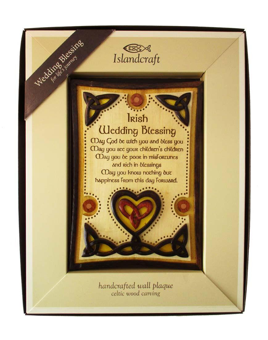 Buy Wooden Wall Plaque With Irish Wedding Blessing Design Carrolls Irish Gifts