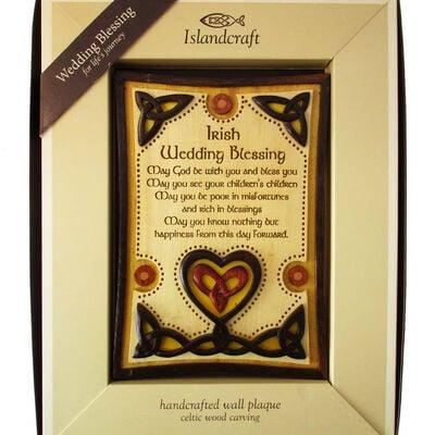 Hölzernes Wandschild mit irischem Hochzeitssegen