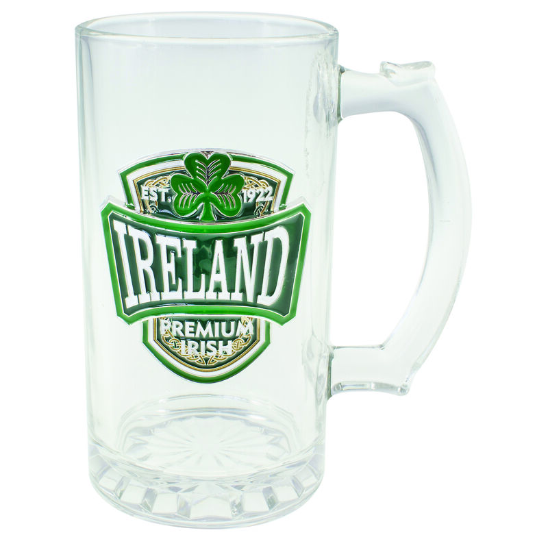 Ireland College Designed Green Pewter Badge Crest Tankard