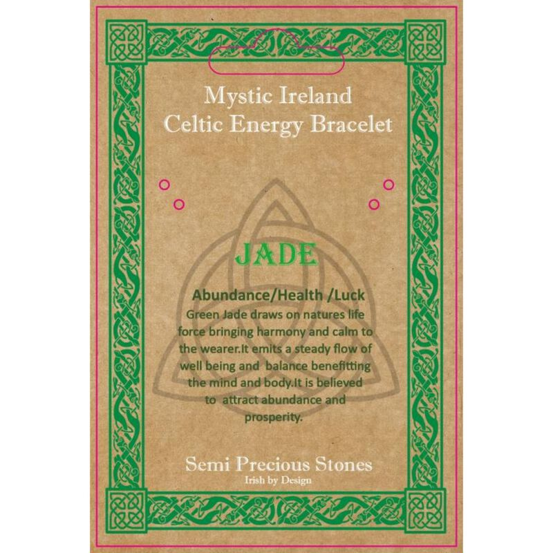 Mystic Ireland Jade Semi Precious Stone Celtic Energy Bracelet