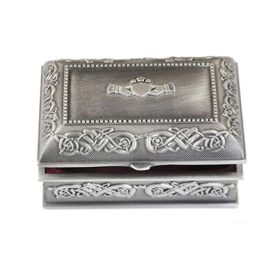 Mullingar Pewter Ring Box With Celtic Pattern - Small Size