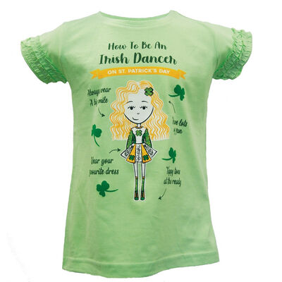 St. Patrick's Day Kids T-Shirt How To Be An Irish Dancer Design