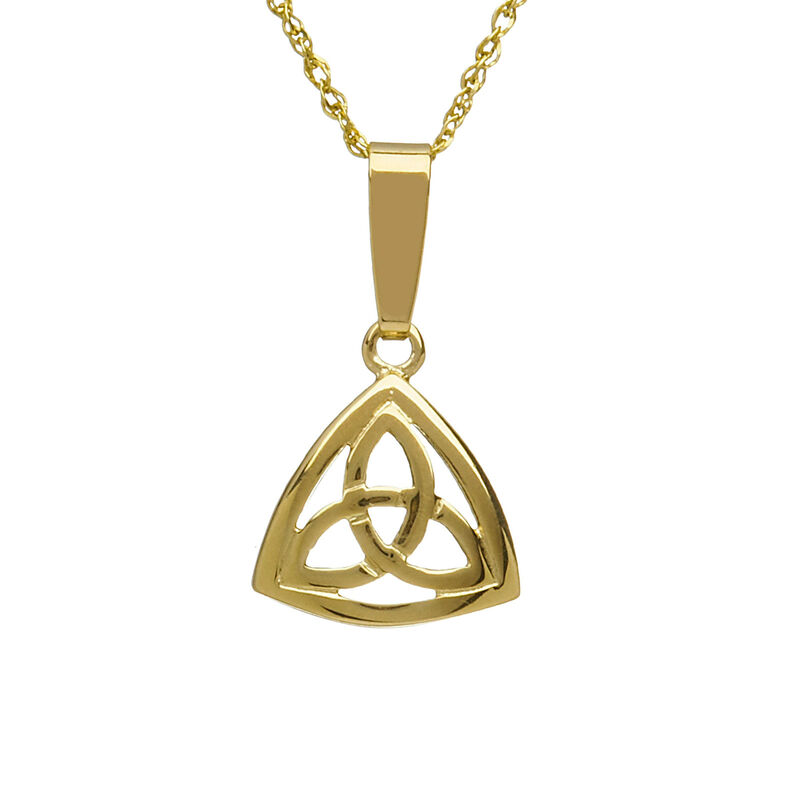 10CT Celtic Trinity Knot Triangle Pendant